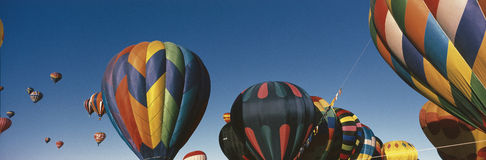 Balloons flying in Albuquerque Balloon Festival Stock Photo