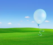 Balloons flying into the sky. Stock Photo