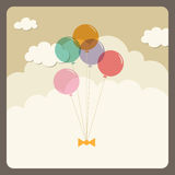 Balloons flying in the sky Royalty Free Stock Photography