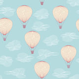 Balloons flying in the summer sky Stock Photo
