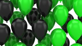 Balloons flying up. White background, 2 in 1, loop 301-600 frames, created in 4K, alpha matte, 3d animation