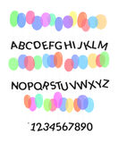 Balloons font Alphabet vector illustration