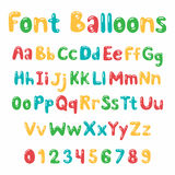 Balloons font Alphabet Stock Image