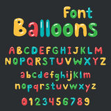 Balloons font Alphabet Royalty Free Stock Photos