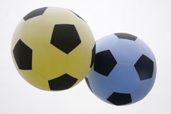 Balloons - footballs. Two balloons in the form of footballs Stock Images