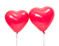 Balloons in the form of heart Royalty Free Stock Image