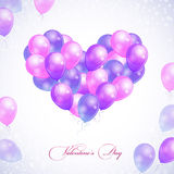 Balloons in form of heart Royalty Free Stock Photography