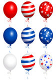 Balloons fourth od july Stock Image