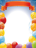 Balloons frame Royalty Free Stock Photo