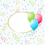 Balloons frame. Party frame with colorful ballons Royalty Free Stock Images