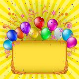 Balloons and frame Royalty Free Stock Image