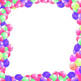 Balloons in a frame Royalty Free Stock Images