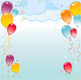 Balloons frame composition Royalty Free Stock Photos
