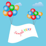 Balloons frame composition with space for your text. Royalty Free Stock Photos