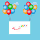 Balloons frame composition with space for your text. Royalty Free Stock Image