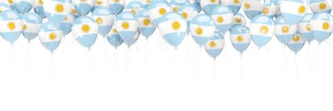 Balloons frame with flag of argentina Royalty Free Stock Photos