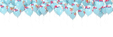 Balloons frame with flag of fiji Stock Photo