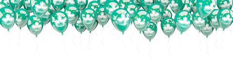 Balloons frame with flag of macao Stock Photo