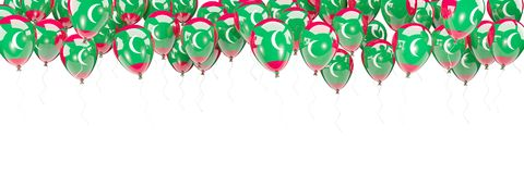 Balloons frame with flag of maldives. Isolated on white. 3D illustration Royalty Free Stock Images
