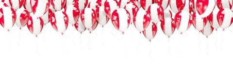 Balloons frame with flag of peru Royalty Free Stock Photography