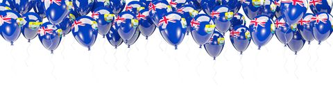 Balloons frame with flag of saint helena Royalty Free Stock Photography