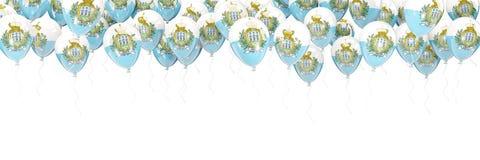 Balloons frame with flag of san marino Stock Photography