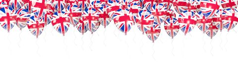 Balloons frame with flag of united kingdom Royalty Free Stock Images