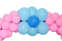 Balloons frame. Balloons gate on blank white background Stock Image