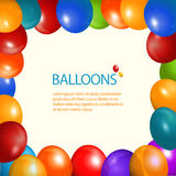 Balloons frame and sample text Stock Image