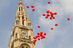 Balloons in front of the town hall in Vienna Stock Photos