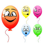 Balloons with funny faces Stock Image
