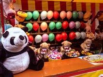 Balloons games shooting colorful color panda toy. Balloons games shooting colorful color panda Royalty Free Stock Photo