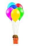 Balloons and gift
