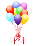 Balloons and gift stock illustration