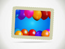Balloons gift card with rope and shadow Stock Photos