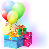 Balloons and gifts Stock Image