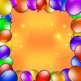 Balloons and gold stars Stock Images