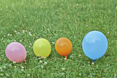 Balloons on the grass Stock Photography