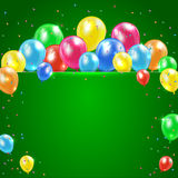 Balloons on green background Royalty Free Stock Photography