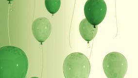 Balloons_036. Green balloon rises cycle animation stock video