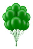 Balloons green. Green party balloons for birthday Royalty Free Stock Image