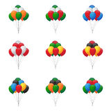 Balloons groups Stock Image