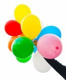Balloons in hand Stock Photos
