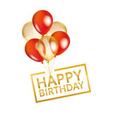 Balloons happy birthday Stock Photos
