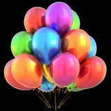 Balloons happy birthday party decoration multicolored colorful Royalty Free Stock Photography