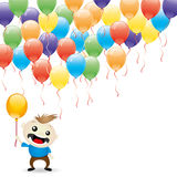 Balloons and happy child. Royalty Free Stock Photo