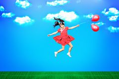 On balloons Royalty Free Stock Image