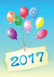 Balloons Happy New Year 2017. Balloons congratulation for Happy New Year 2017 vector illustration