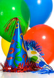 Balloons and hats Royalty Free Stock Image