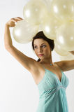 The balloons on head Stock Photography